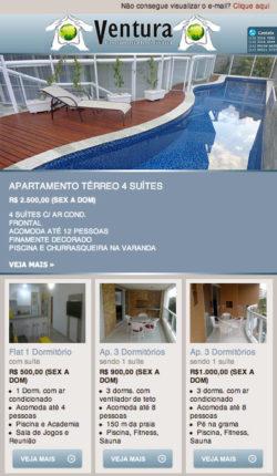 E-mail Marketing Imobiliária Ventura Riviera