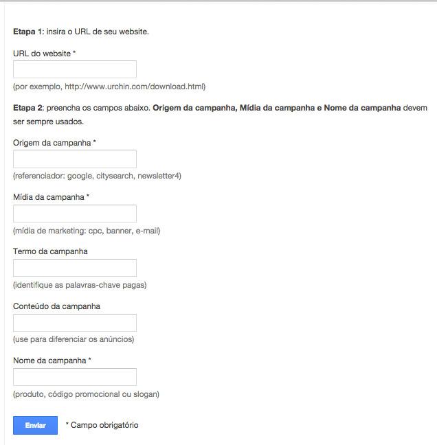 Criador de URL Google Analytics