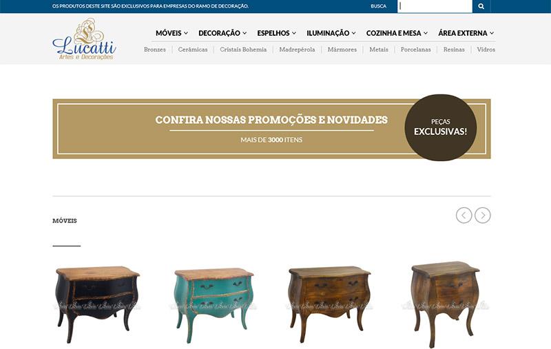 Desenvolvimento de site | Lucatti Artes | Bertioga