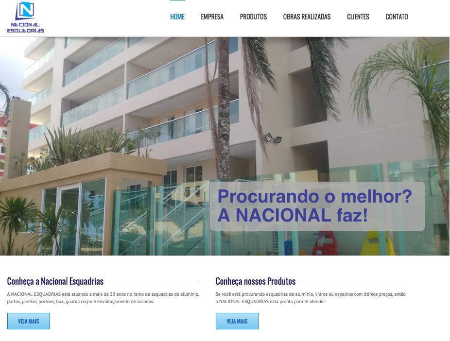 Desenvolvimento de site Nacional Esquadrias