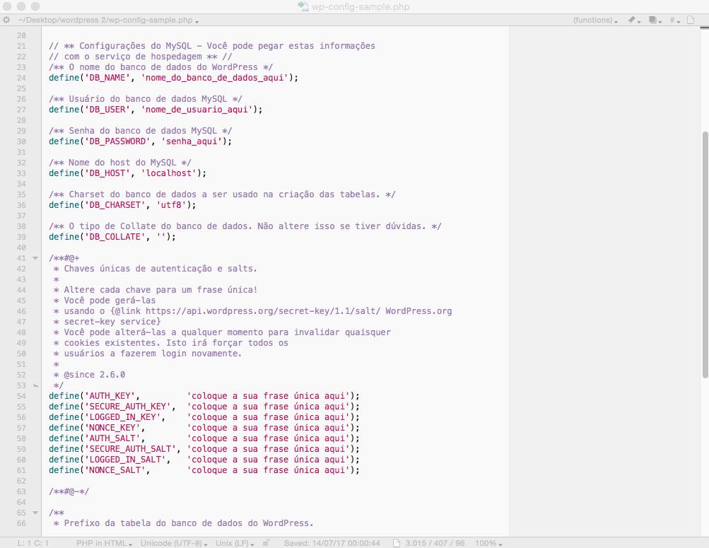 Entendendo o arquivo wp-config do wordpress
