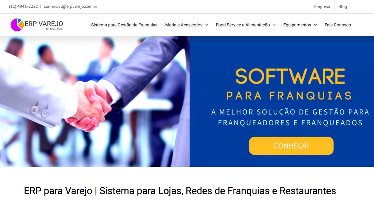 ERP VAREJO - Site em WordPress