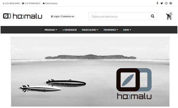 Site em WordPress Hoomalu