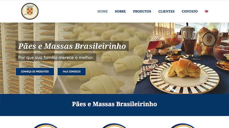 Site em WordPress Pães e Massas Brasileirinho