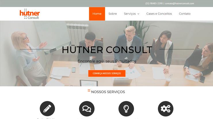 Site em WordPress Hutner Consult