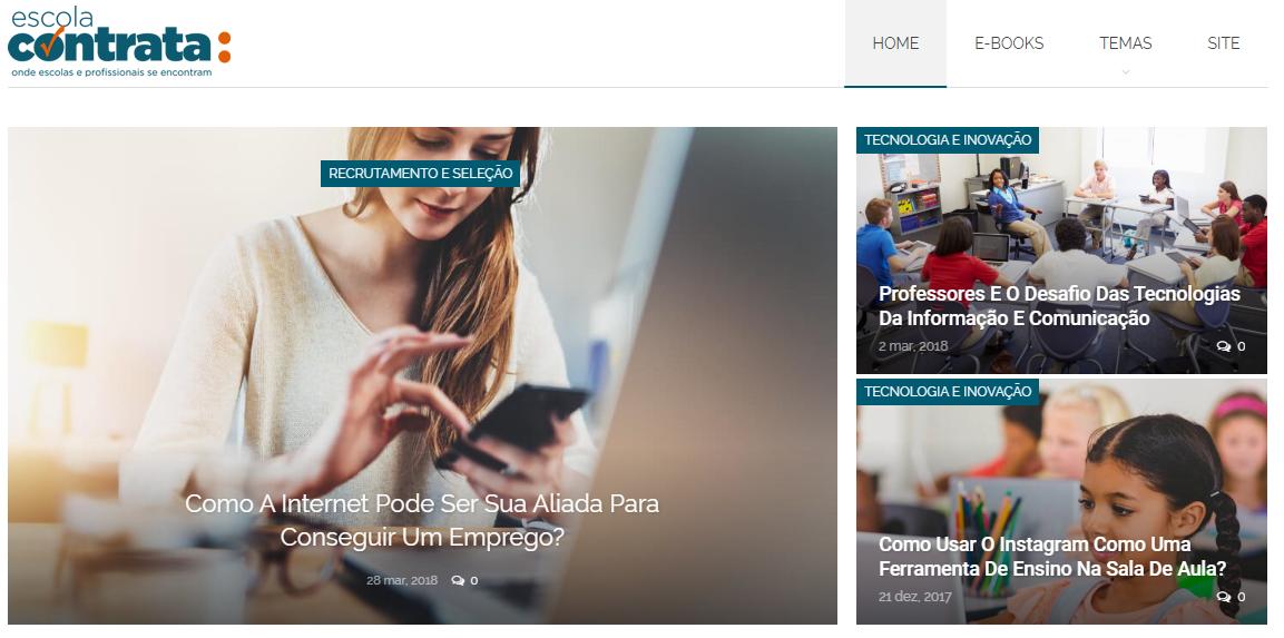 Blog Escola Contrata