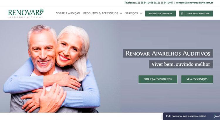 Criação de site Renovar Auditivos