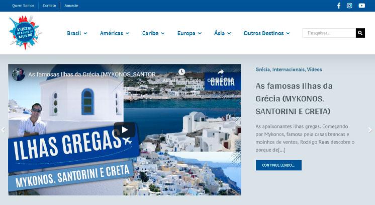 desenvolvimento de sites programa viagens